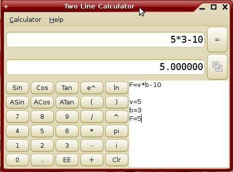 Download web tool or web app Two Line Calculator to run in Windows online over Linux online
