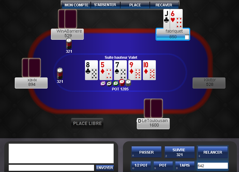 Download web tool or web app WinABarrierePoker to run in Windows online over Linux online