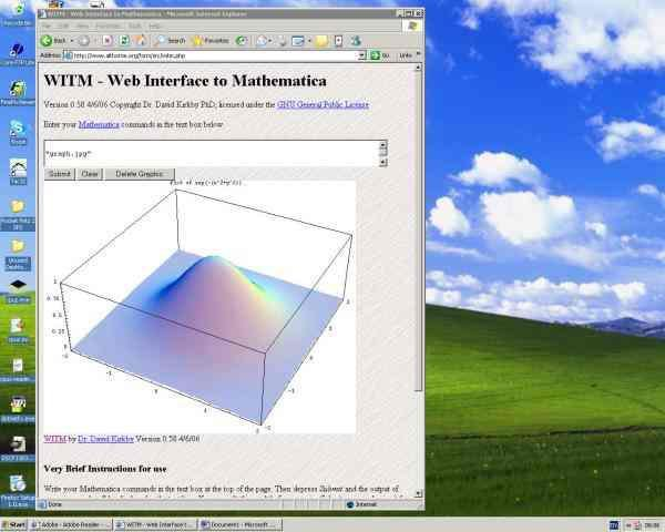 Download web tool or web app WITM - Web Interface To Mathematica to run in Linux online