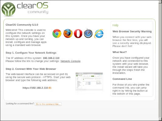 Free ClearOS online