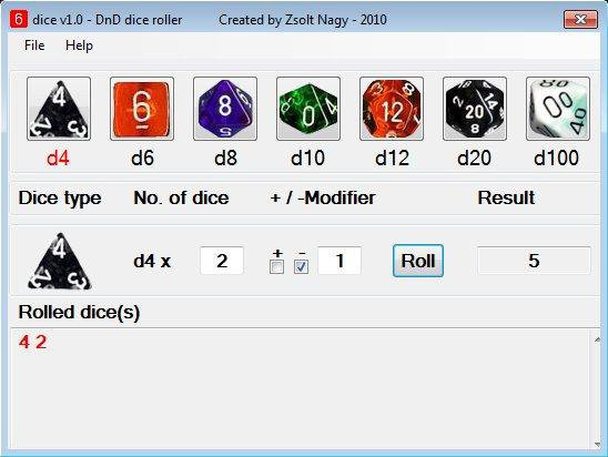 Download web tool or web app dice v2.3 - free RPG dice roller to run in Windows online over Linux online