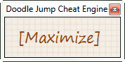 Download web tool or web app Doodle Jump Cheat Engine to run in Windows online over Linux online