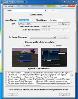Download web tool or web app Xfire Game Customizer to run in Windows online over Linux online