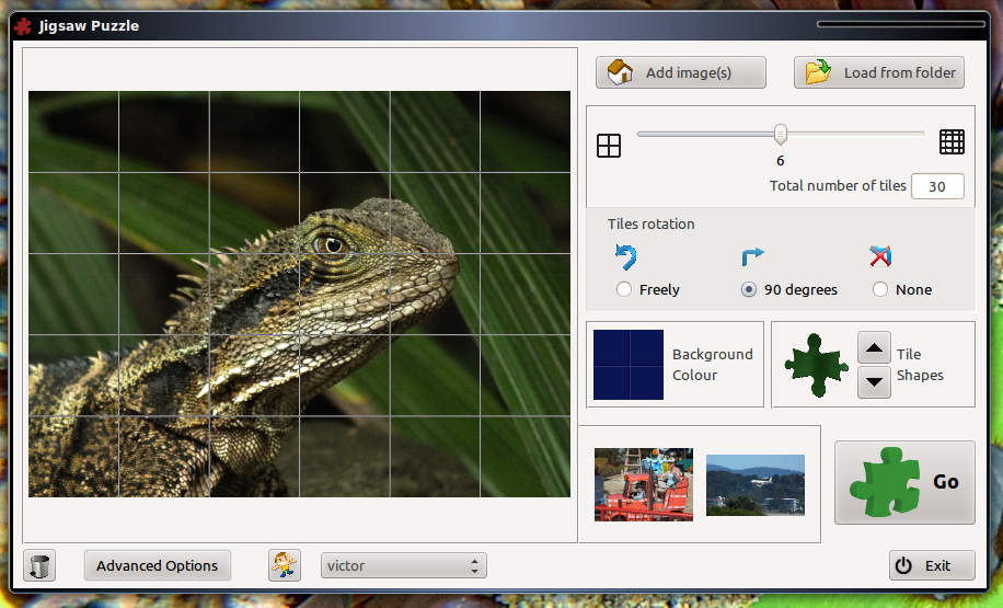 Download web tool or web app xjiggui - a jigsaw puzzle game to run in Linux online