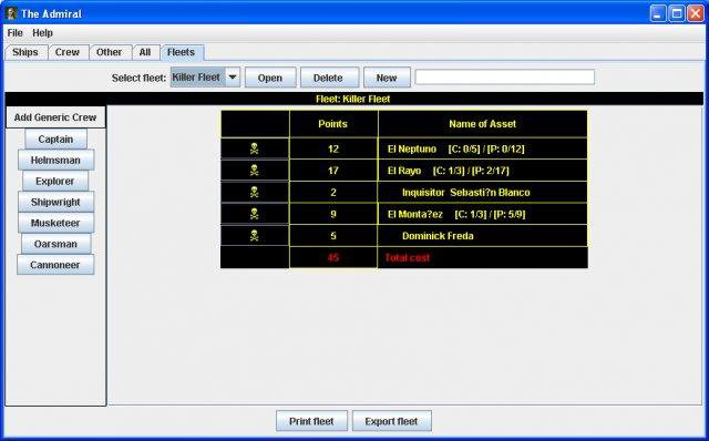 Download web tool or web app The Admiral - Pirates Card Manager to run in Linux online