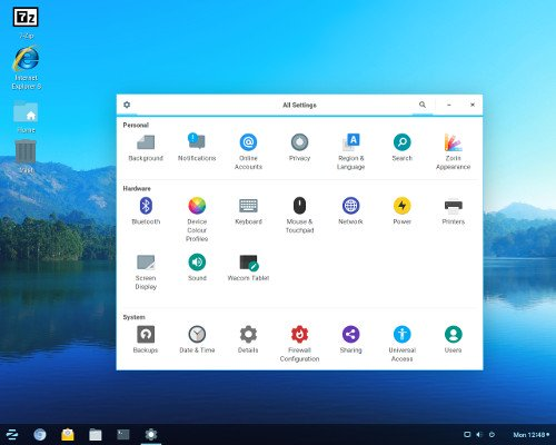 Free Linux hosting based on Zorin OS online